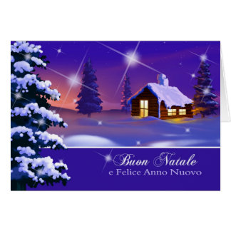 Buon Natale. Italian Customizable Christmas Card