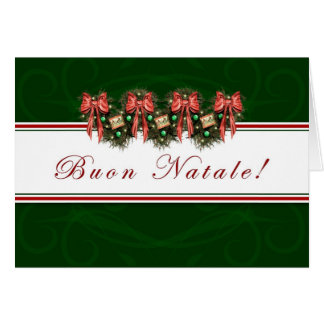 Buon Natale - Italian - Merry Christmas Greeting Card