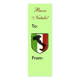 Buon Natale! Italian Merry Christmas Gift Tags Business Card