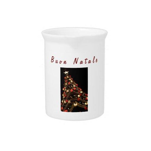 BUON NATALE-ITALIAN MERRY CHRISTMAS PITCHER
