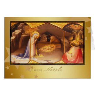 Buon Natale, Merry christmas in Italian, Card