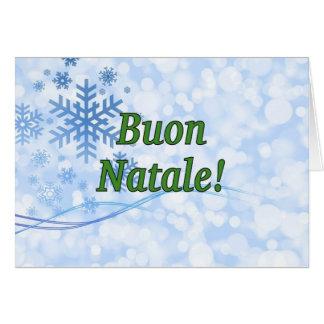Buon Natale! Merry Christmas in Italian gf Greeting Card