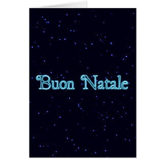 Buon Natale On Starfield Greeting Cards