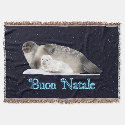 Buon Natale - Ringed Seal Throw Blanket