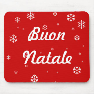 Buon Natale Snowflakes Mouse Pad