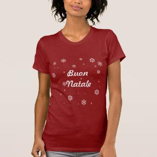 Buon Natale Snowflakes Tee Shirt
