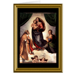 Buon natale - St. Francis Prayer in Italian Greeting Card