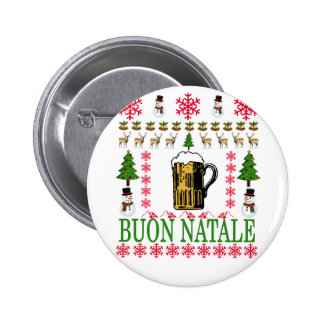 Buon natale T-Shirt '. 6 Cm Round Badge