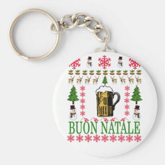 Buon natale T-Shirt '. Basic Round Button Key Ring