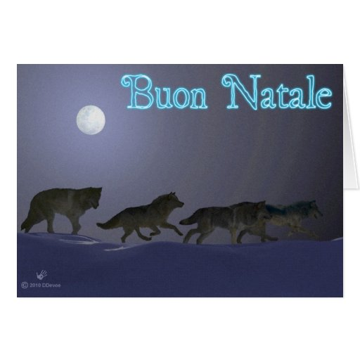 Buon Natale - Wolfpack Card