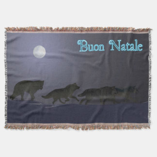 Buon Natale - Wolfpack Throw Blanket