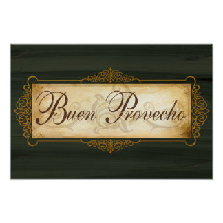 Buon Provecho decor poster