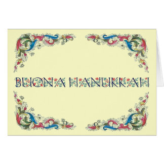 Buona hanukkah - Happy Hanukkah in Italian Card