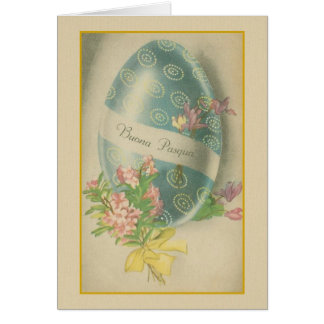 Buona Pasqua Italian Easter Egg Greeting Card