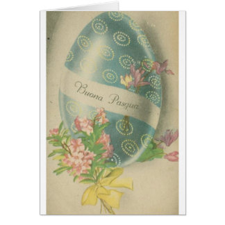 Buona Pasqua Vintage Italian Easter Card