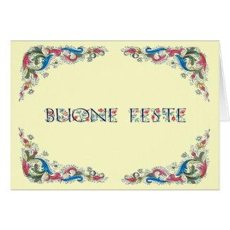 Buone feste - Happy Holidays in Italian Card