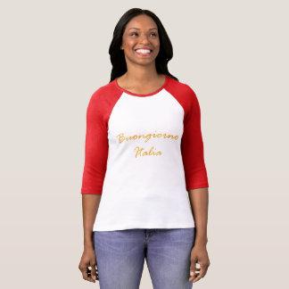 Buongiorno Italia. Decorative gradient golden text T-Shirt