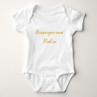 Buongiorno Italia. Golden gradient text. Baby Bodysuit