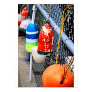 Buoys on the Fence Postcard