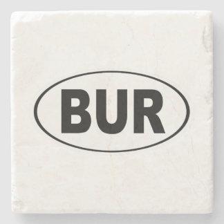 BUR Burlington Massachusetts Stone Coaster