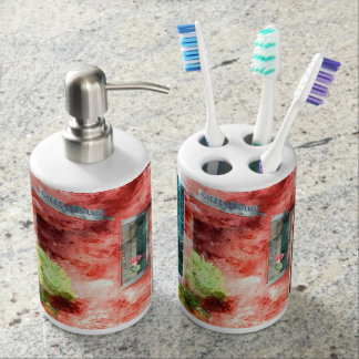 Burano Italy Buildings Bath Accessory Sets
