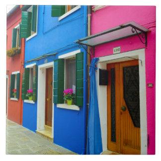 Burano Italy Buildings Ceramic Tile