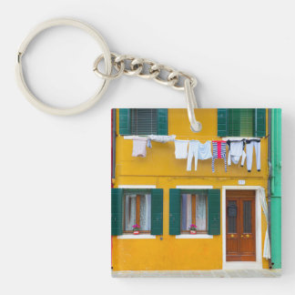 Burano Italy Buildings Key Ring