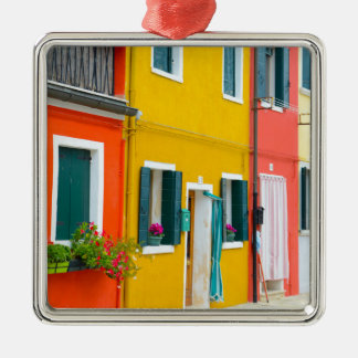 Burano Italy Buildings Metal Ornament