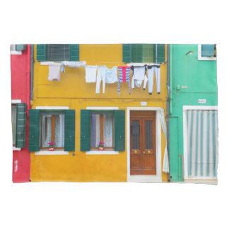 Burano Italy Buildings Pillowcase