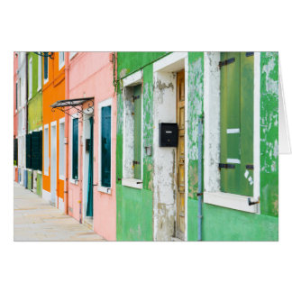 Burano Italy Homes near Venice Italy Card