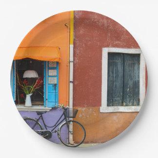 Burano Italy near Venice Italy 9 Inch Paper Plate