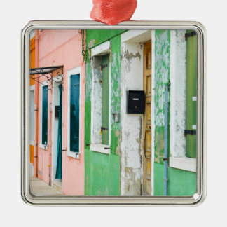 Burano Italy near Venice Italy Metal Ornament