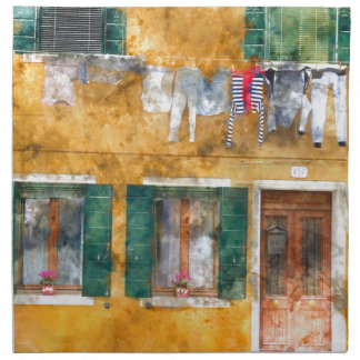 Burano Italy near Venice Italy Napkins
