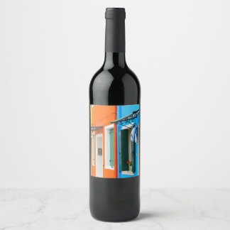 Burano Italy near Venice Italy Wine Label