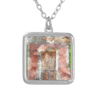 Burano Italy near Venice Italy with traditional co Silver Plated Necklace