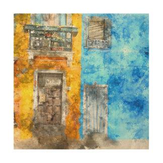 Burano Italy near Venice Italy Wood Print