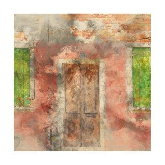 Burano Italy near Venice Italy Wood Wall Decor