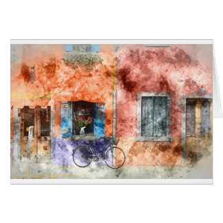 Burano  near Venice Italy Card
