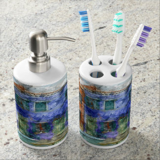 Burano  near Venice Italy  island canal with small Toothbrush Holder