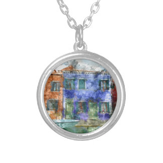 Burano  near Venice Italy Silver Plated Necklace