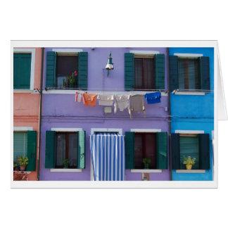 Burano, Venice Italy Card
