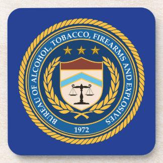 Bureau of Alcohol Tobacco Firearms Drink Coasters