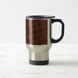 Burgandy Creased Plaid Coffee Mugs