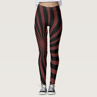 Burgandy Spiral Leggings