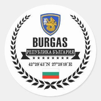 Burgas Classic Round Sticker