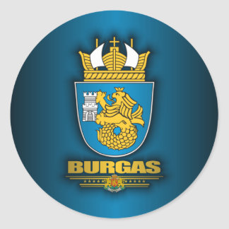 Burgas COA Classic Round Sticker