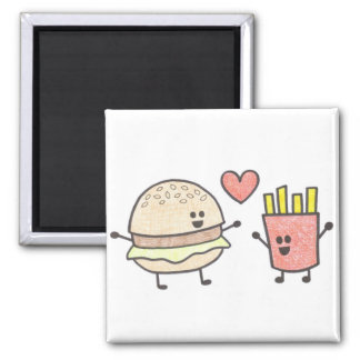 Burger and Fries Magnet