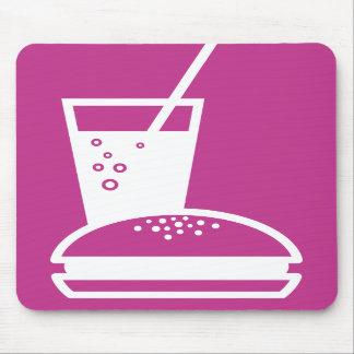 burger and lemonade pink taste explosion mouse pads
