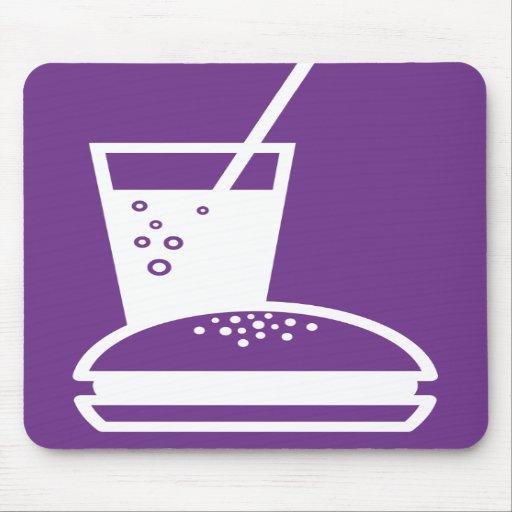burger and lemonade purple taste explosion mousepad