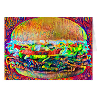 Burger Art Card